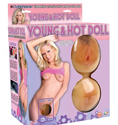 Young And Hot Vibrating Cyberskin Doll