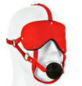 Lover's Headgear Advanced Eye Mask with Ball Gag