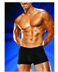 Male power pouch shorts black l/x