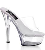 Karla Kiss Clear Spike Heel Sandal