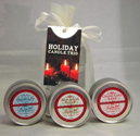 Merry Holiday Candle Trio