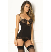 Rough Romance Garter Chemise G-String Set