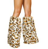Pair of Leopard Leg Warmers